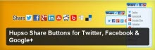 Hupso Share Buttons for Twitter, Facebook & Google+