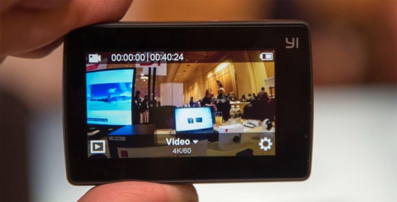 Yi 4K action camera touchscreen