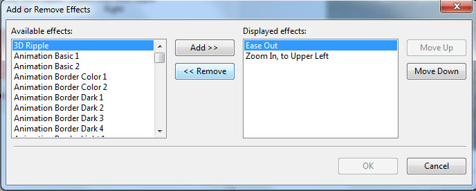 choose the 'effect' option and remove it