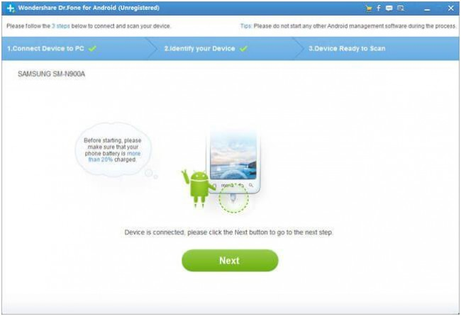 restore contacts on android