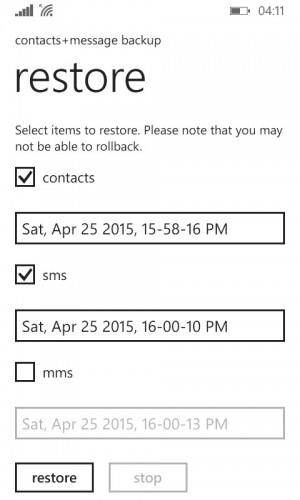 Free solutions to backup and restore windows phone
