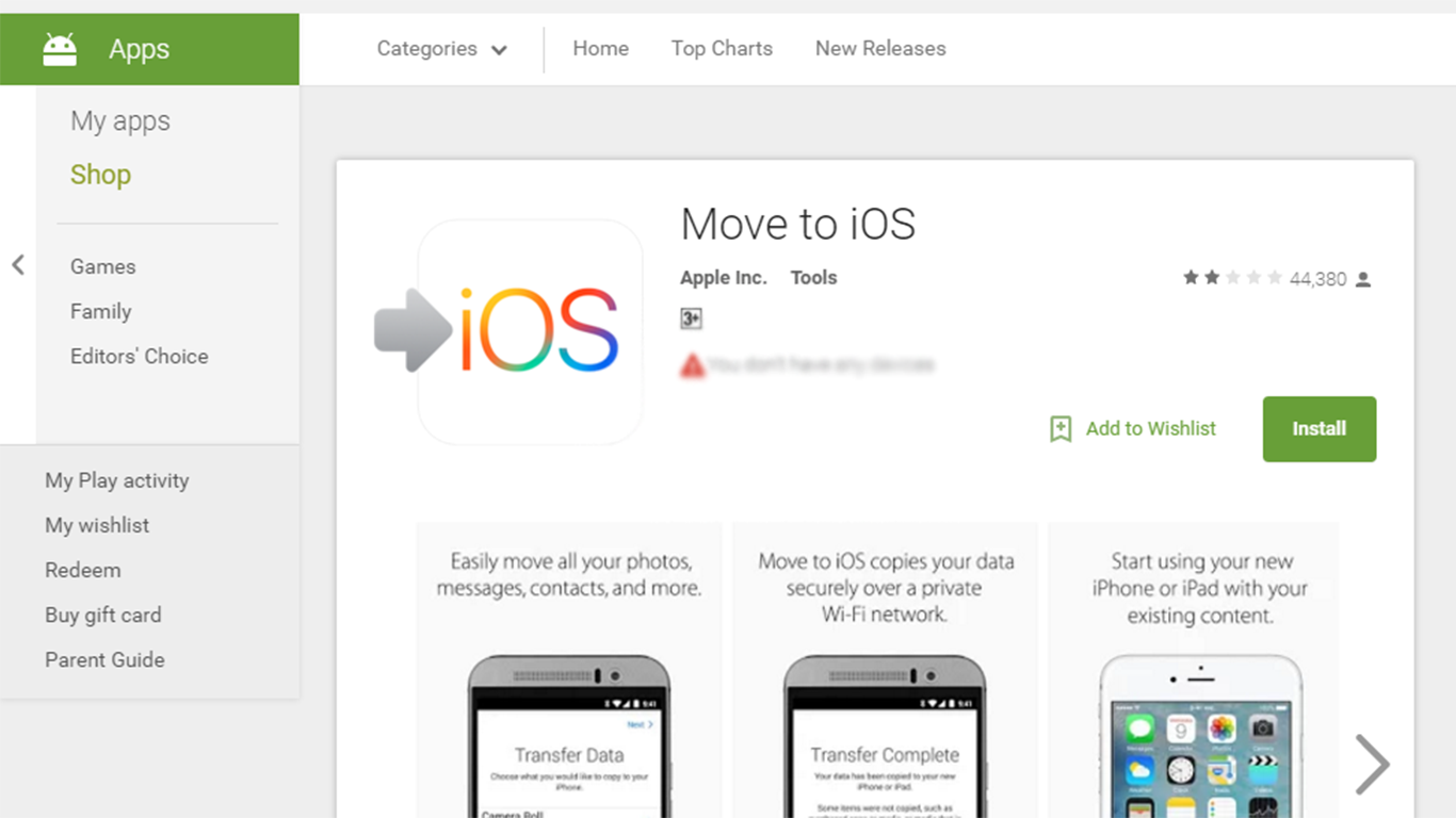 The Move to iOS App: Is this the best way to move to iOS devices?
