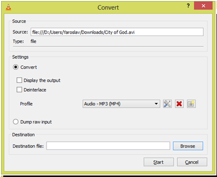 Come Convertire File VLC in file MP4