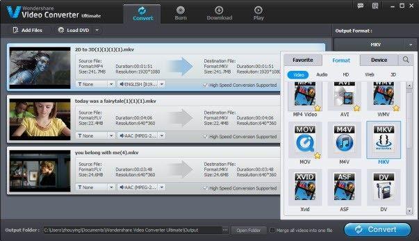 Convertire AVCHD in MKV su Mac