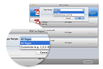 PDF to Pages per Mac key feature