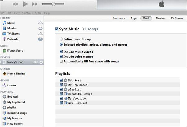 copy music from Mac Mavericks to iPhone