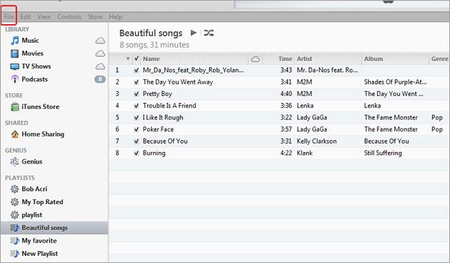 Come riprodurre la playlist di iTunes con i file musicali