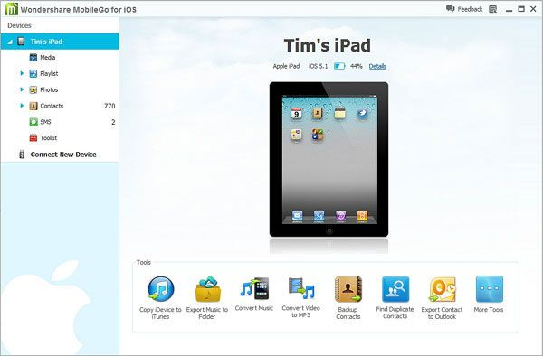 transfer music from itunes to ipad