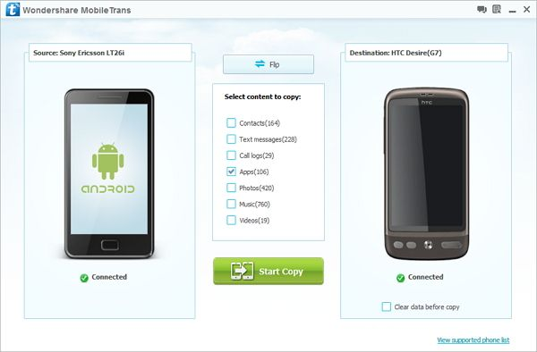 sync apps da android