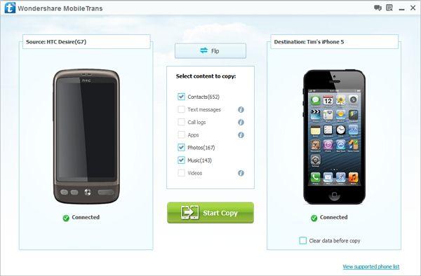 trasferire contatti da android a iphone
