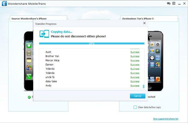 copiare contatti da iphone 4 su iphone 5