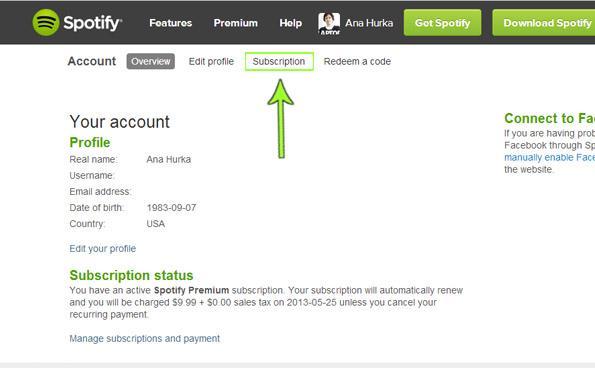 Come annullare Spotify Premium e cancellare Spotify versione di prova