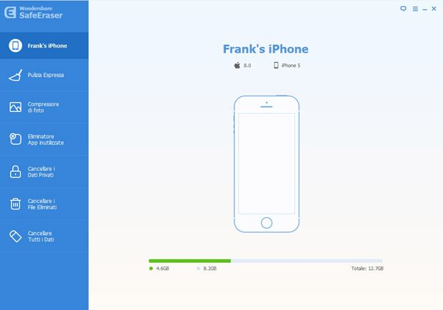 Collega il tuo dispositivo iOS