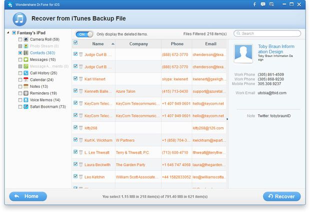 recover ipad data after factory settings restore