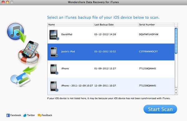 Come recuperare file cancellati da iPod Touch