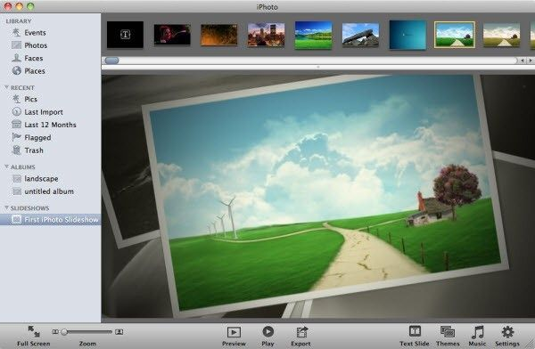 iphoto slideshow making