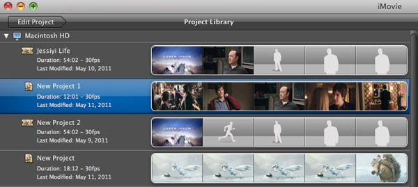 save imovie project